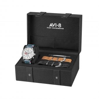 Avi-8 - Box set Avi-8 AV-4011-FR01 - Orologio uomo blu