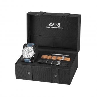 Avi-8 - Box set Avi-8 AV-4011-FR02 - Orologio uomo blu