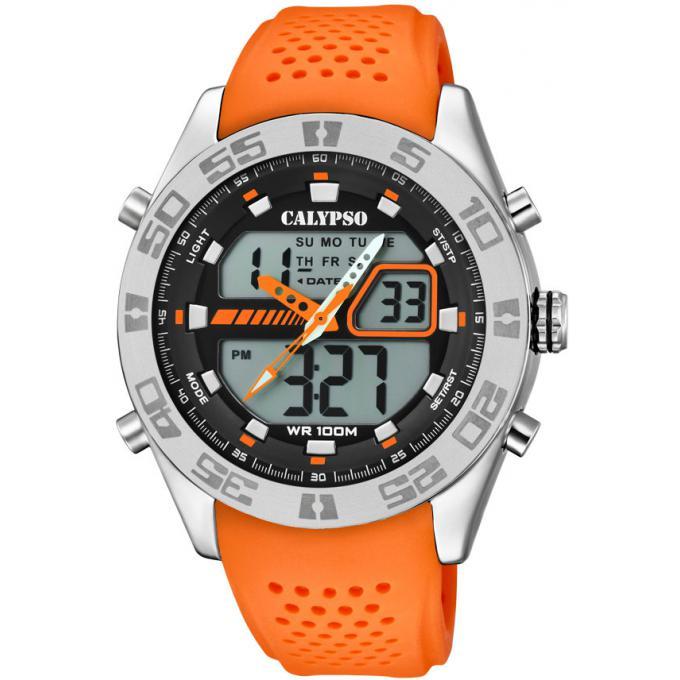 molto carino 761de 7568b Orologio Calypso K5774-1 - Orologio Silicone Arancione Uomo Più di infos