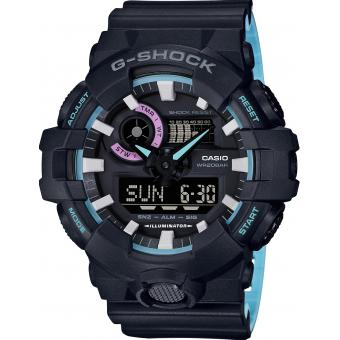 Casio - Orologio Casio G-Shock 90' Rave Colors GA-700PC-1AER - Orologi