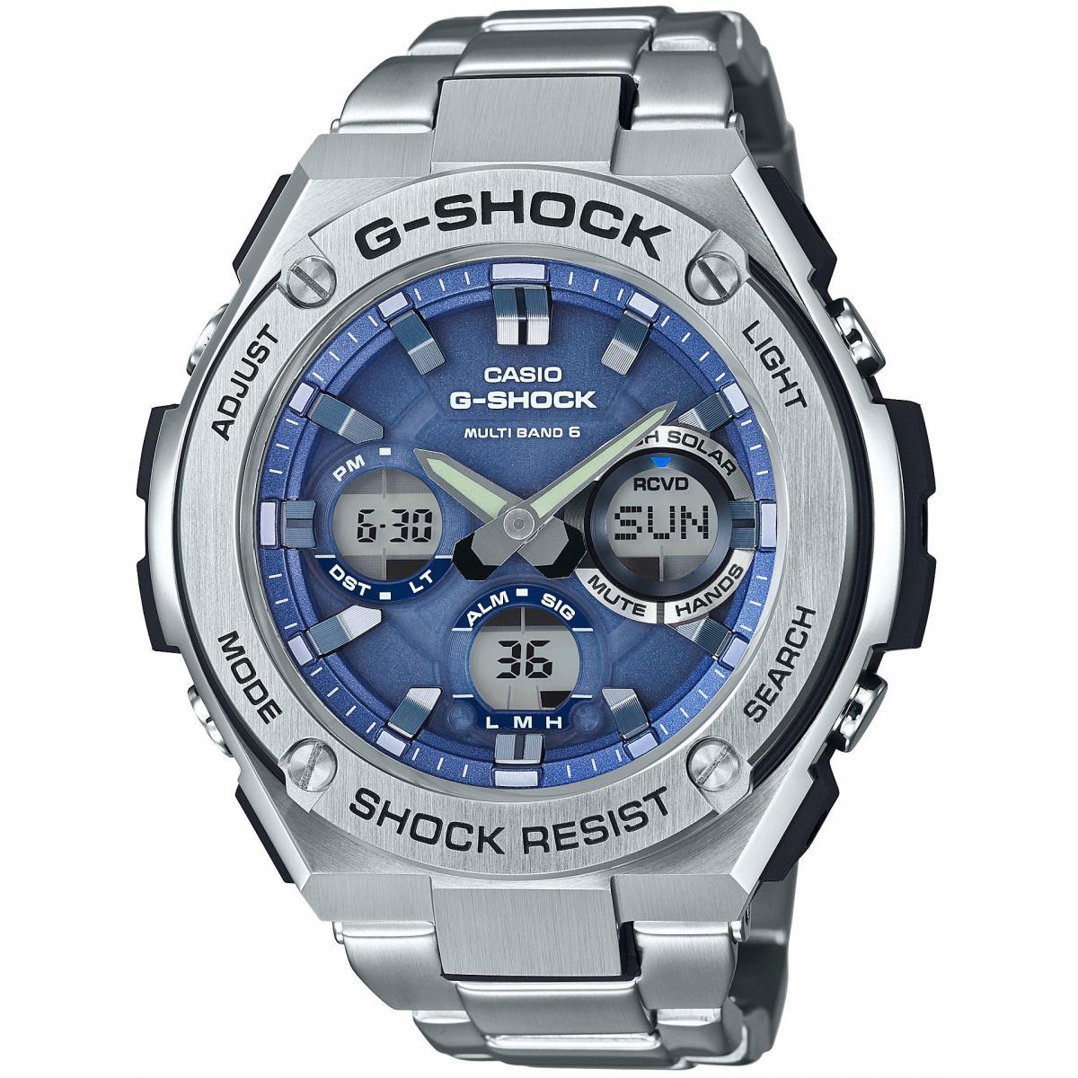 selezione più recente meglio scarpe a buon mercato Orologio Casio G-Shock GST-W110D-2AER - Orologio Acciaio Argento ...