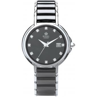 Orologio Royal London 20153-03 - Orologio Donna Ceramica Nero