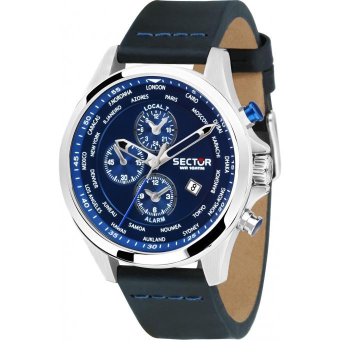 selezione premium e3fd8 fbb4c Orologio Sector R3251180023 - Orologio Cuoio Blu Uomo Più di infos